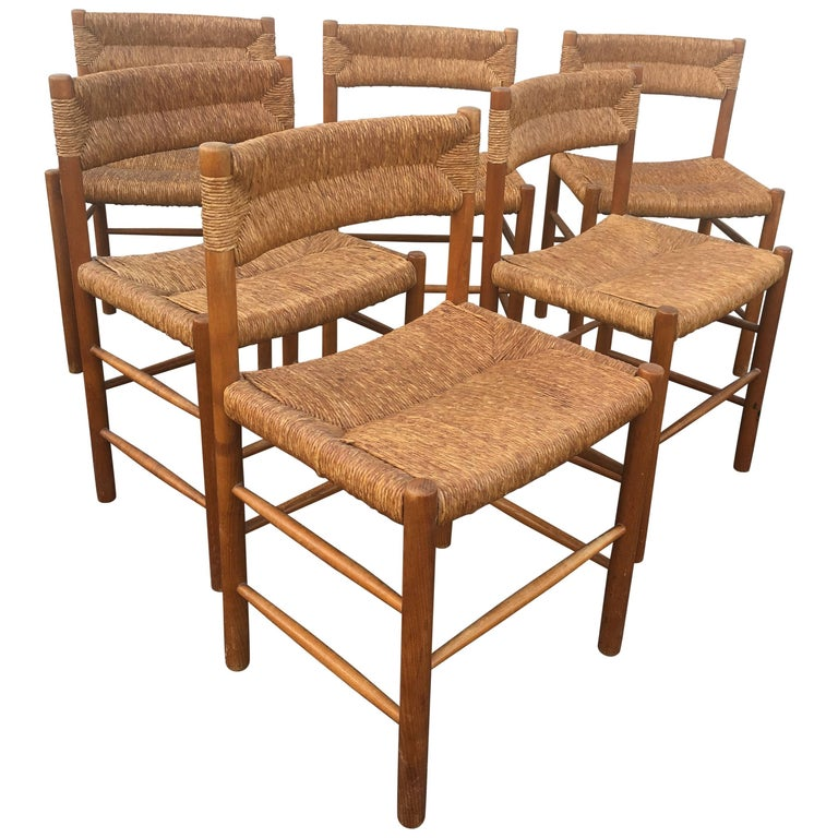 Set of Six Charlotte Perriand Chairs