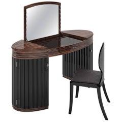 Art Deco Macassar Vanity
