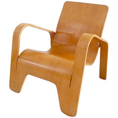 Important Dutch Modernist Lawo Lounge Chair by Han Pieck for Lawo Ommen, 1946
