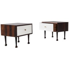 Pair of Nightstand Tables by Geraldo de Barros, Brazil, 1956