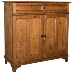Antique Pine Cupboard, English, Victorian, Cabinet, Pitch Pine, circa 1880