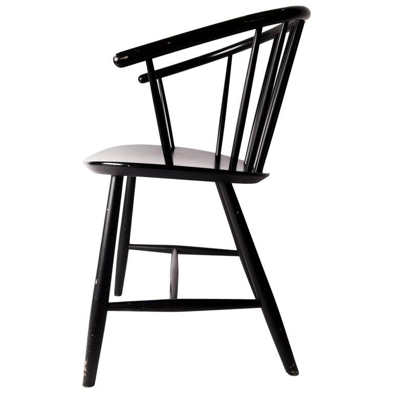 Patinated J64 Primitive Chair by Ejvind a Johansson, Denmark, circa 1957