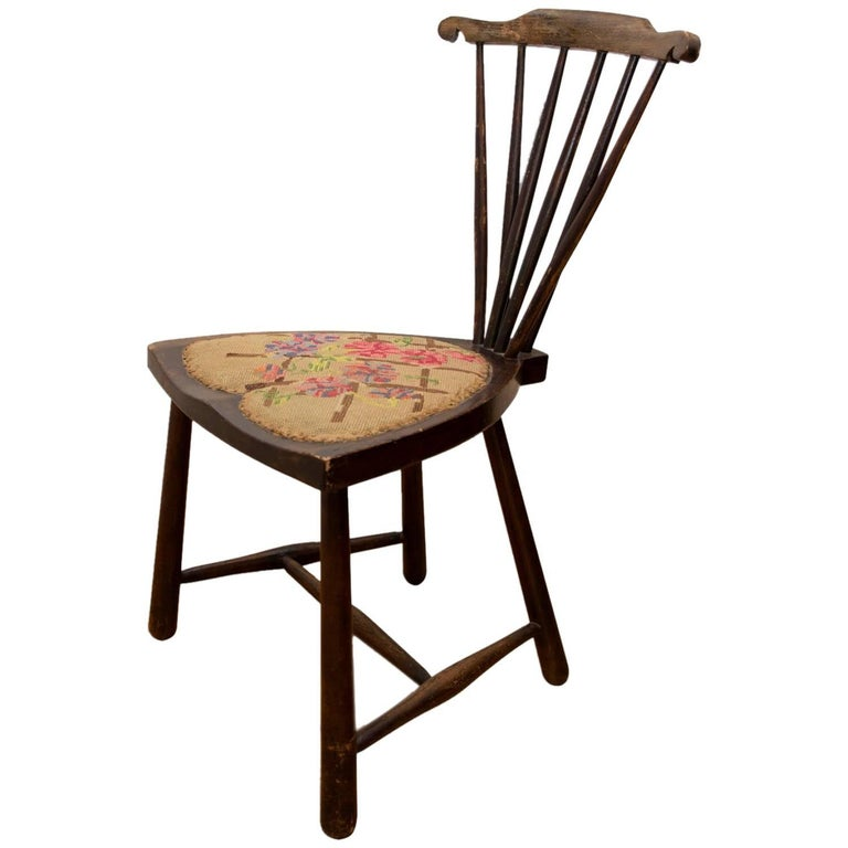 Fan Back Windsor Chair by Adolf Loos, circa 1920, Vienna