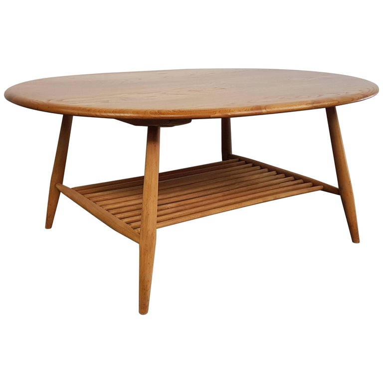 Vintage Ercol Coffee Tables For Sale: Vintage Ercol Blonde Coffee Table, 1960s For Sale At 1stdibs