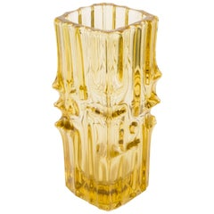 Yellow Artistic Vase, 20th Century, Europe, 1960s