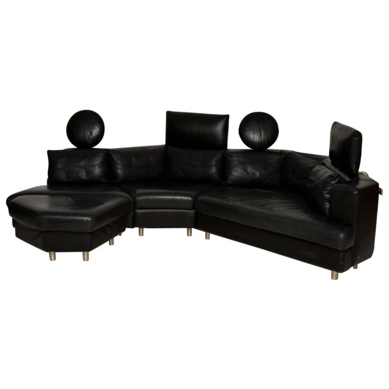1970s Vintage Leather Modular Sofa by Rolf Benz