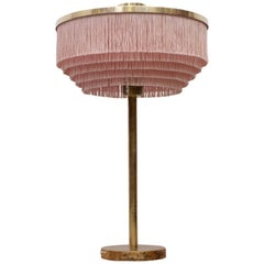 Pink Hans-Agne Jakobsson Model B-138 Brass Table Lamp, 1960s