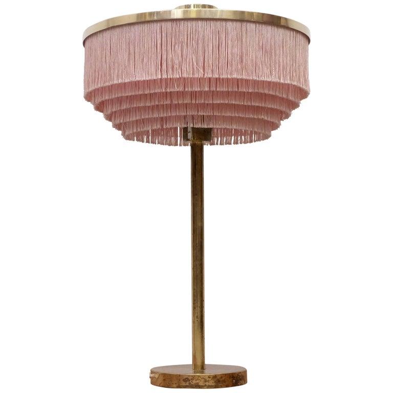 Pink Hans-Agne Jakobsson Model B-138 Brass Table Lamp, 1960s