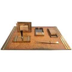 Silvercrest American Art Deco Six Piece Bronze Desk Set, 1930s