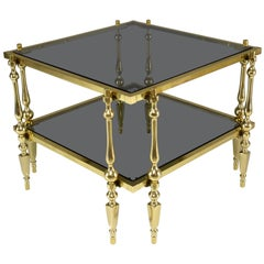 French 20th Century Vintage Brass Coffee Table