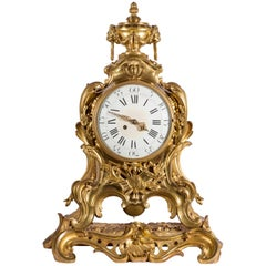 19th Century French Ormolu Mantel Clock with Samuel Marti Movement