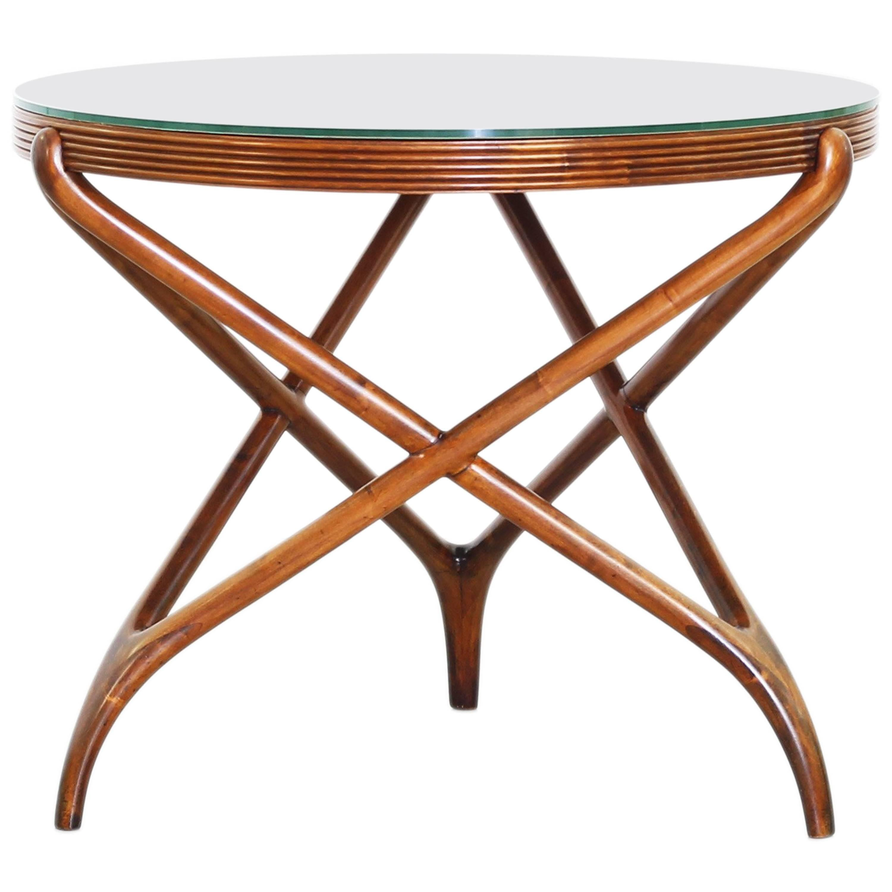 Italian Round Dining Table Attributed to Ico Parisi