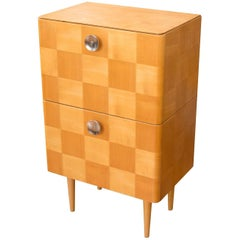 Midcentury Small Commode or Bedside Table, Attribute to Jindrich Halabala, 1950s