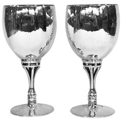 Pair of Georg Jensen Silver Goblets