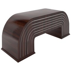 Sculptural Walnut Desk