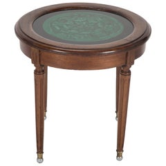 Louis XVI Mahogany Side Table with Malachite Top