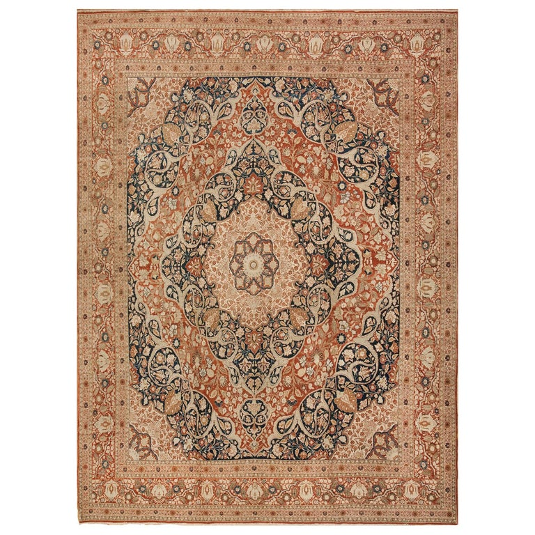 Haji Jalili Antique Tabriz Persian Carpet