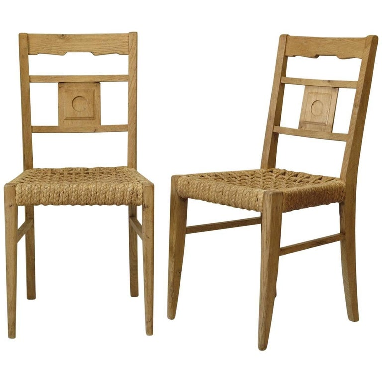 Four French, 1950s Chairs Attributed to Audoux-Minet
