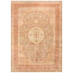 Vintage Room Sized Persian Tabriz Carpet