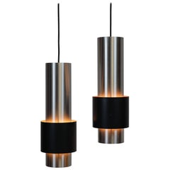 Pair of Zenith Lamps Designed by Jo Hammerborg, Produced by Fog & Mørup in 1967