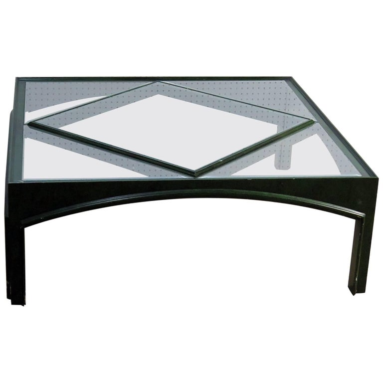 Maison Jansen Glass Top Coffee Table
