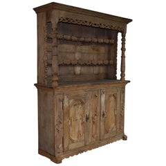 18th Century Rustic German Bleeched Farmhouse Oak Vaisselier