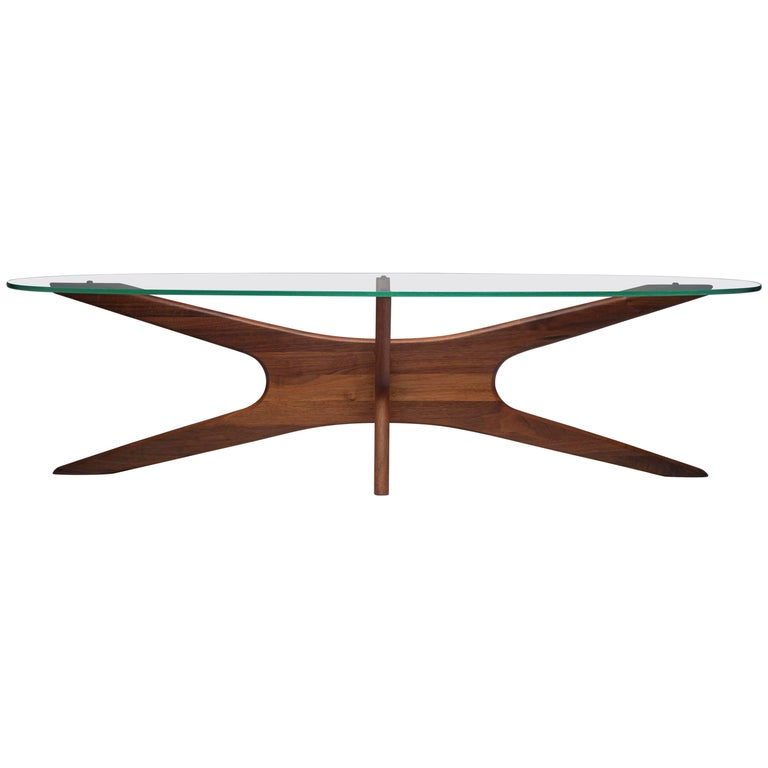 Vintage Modern Glass Abstract Sculpture Coffee Table by Adrian Pearsall For Sale