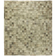 Oversized Hair-on-Hide Contemporary Rug