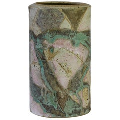 Anthony Bernulf Hodge Signed British Postmodern Art Studio Pottery Vase, 1986