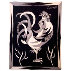 Marc Cavell - Tapestry Representing a Rooster, France, 1950