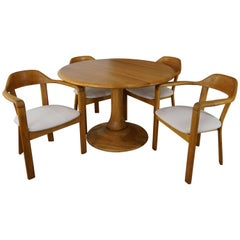 Scandinavian Style Solid Oak Dining Set