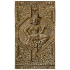 Large Decorative Panel of an Indian Goddess, France, circa 1960s