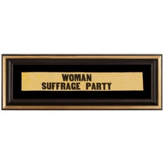 "Yellow Suffragette Ribbon Made for Carrie Chapman Catt's ""Woman Suffrage Party"""