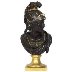 19th Century Grand Tour Bust Bronze Sculpture of Mercury or Hermes