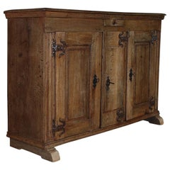 18th Century Rustic German Farmhouse Bleeched Oak Buffet