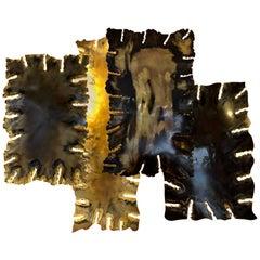 Brass Sconce by Edouard De La Marque