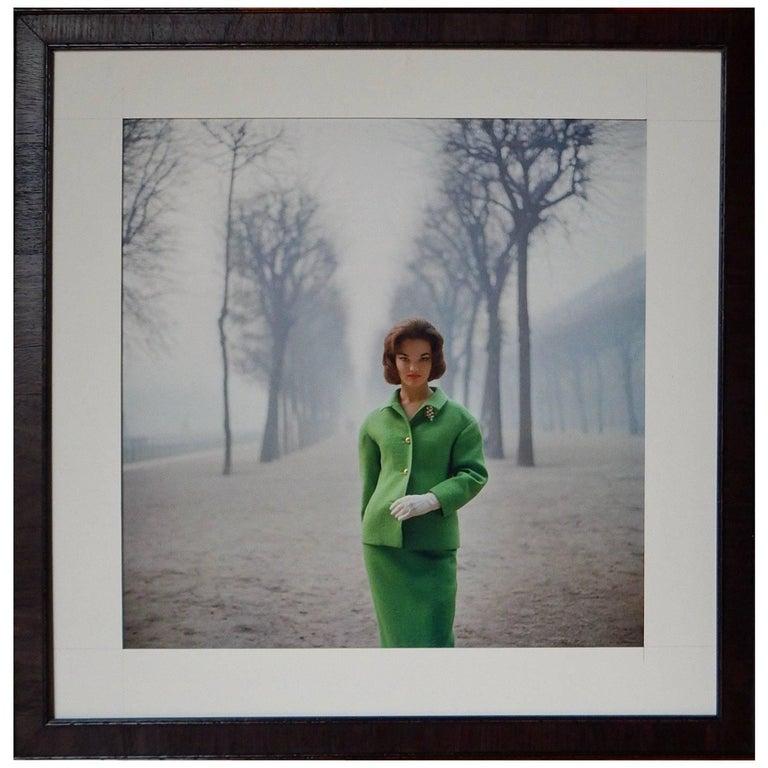 Mark Shaw Photo Print: Henrietta Tiarks Wearing Nina Ricci Among the Trees, 1960