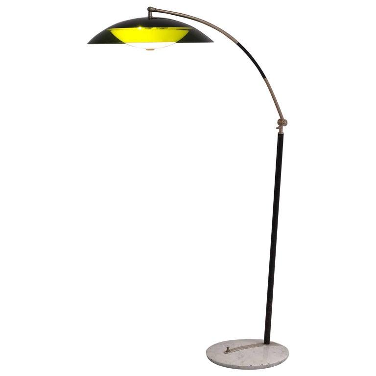 Italian Floor Lamp in with Marble Foot
