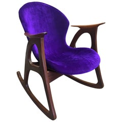 Danish Modern Rocking Chair Designed by Aage Christiansen