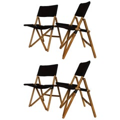 "Four Zanotta ""Navy"" Folding Chairs by Sergio Asti"