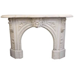 1838 Victorian Arch Statuary White Statuary Marble Mantel