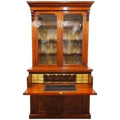 Victorian Mahogany Secretaire Bookcase, circa 1870
