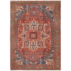 Room Size Antique Persian Heriz Rug