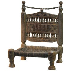 Traditional Tribal Chair of the Swat Valley, Northern Pakistan, 19th Century