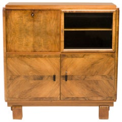 Art Deco Cabinet in Burl Wood