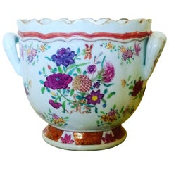 Chinese Export Famille Rose Porcelain Wine Cooler, circa 1765