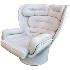 Joe Colombo White Elda Lounge Chair