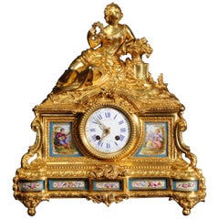 Fine Ormolu and Sèvres Porcelain Clock by Raingo Frères & Henri Picard of Paris