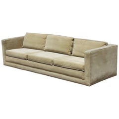 Edward Wormley for Dunbar Tuxedo Sofa on Plinth Base