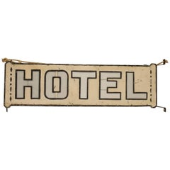 Early 1900's Double Sided Light Up HOTEL Sign